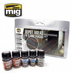 Ammo by Mig Depot Areas Sludge Tracks Weathering Set For Model Kits Mig 7470
