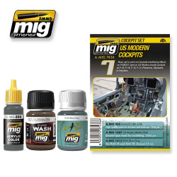 Ammo by Mig Us Modern Cockpits Weathering Set For Model Kits Mig 7436