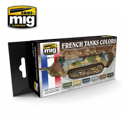 Ammo by Mig WWII & WWII French Camouflage Colours For Model Kits Mig 7110