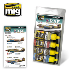 Ammo by Mig Raf WWII Desert Colours For Model Kits Mig 7225