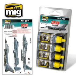 Ammo by Mig Usaf Colours Grey Modern Jets Set For Model Kits Mig 7202