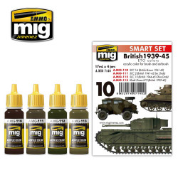 Ammo by Mig British 1939-45 European Colours Acrylic Paint Set Mig 7140