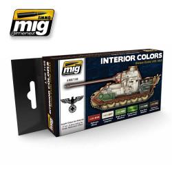 Ammo by Mig Interior Colours German Tanks Acrylic Paint Set Mig 7108