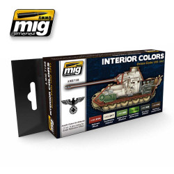 Ammo by Mig Interior Colours German Tanks Acrylic Paint Set Mig 7108