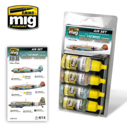 Ammo by Mig Luftwaffe Desert Colours For Model Kits Mig 7218