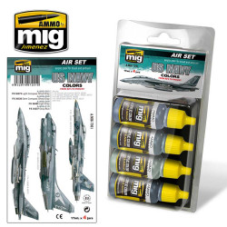 Ammo by Mig Us Navy Colours Set 1 1980 - To Date For Model Kits Mig 7201
