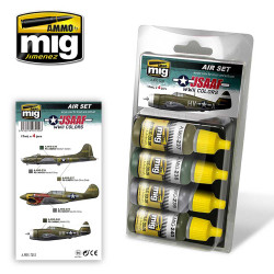 Ammo by Mig Usaaf WWII Acrylic Paint Set For Model Kits Mig 7212