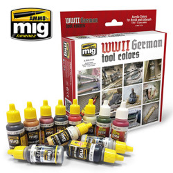 Ammo by Mig WWII German Tool Colours For Model Kits Mig 7179