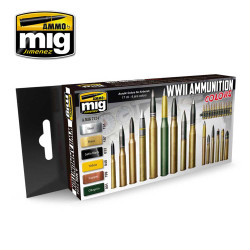 Ammo by Mig Ammunition Colours Acrylic Paint Set For Model Kits Mig 7124