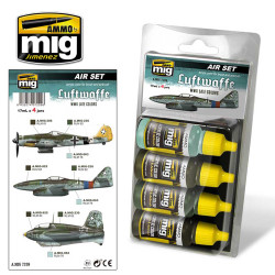 Ammo by Mig Luftwaffe Late WWII Acrylic Paint Set For Model Kits Mig 7209