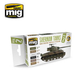 Ammo by Mig Sherman Tanks Vol 2 Acrylic Paint Set For Model Kits Mig 7170