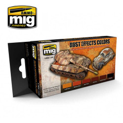 Ammo by Mig Rust Effects Acrylic Paint Set For Model Kits Mig 7106