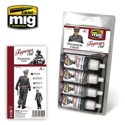 Ammo by Mig Panzer Crew Set For Model Kits Mig 7024