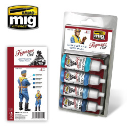 Ammo by Mig Luftwaffe WWII Pilot Set For Model Kits Mig 7025