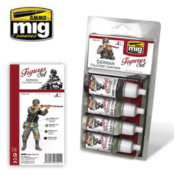 Ammo by Mig German Field Grey Uniforms Set For Model Kits Mig 7021