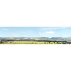 Art Printers Hills & Dales OO Gauge 15in High 10ft Long High Backscene 207D