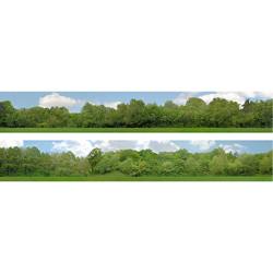 """Art Printers N Gauge Trees 9"""" High Backscene N149A"""