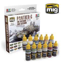 Ammo by Mig Panther G Colour Set For Model Kits Mig 7174