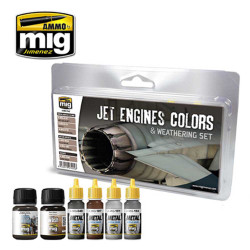 Ammo by Mig Jet Engines Colours And Weathering For Model Kits Mig 7445