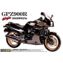 Aoshima 04287 Kawasaki Gpz900R Ninja '02 1:12 Plastic Model Bike Kit
