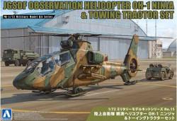 Aoshima 01435 JGSDF Observation Helicopter Oh-1 Ninja 1:72 Model Kit