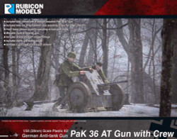 Rubicon Models 280057 Pak 36 At Gun With Crew 1:56 Plastic Model Kit
