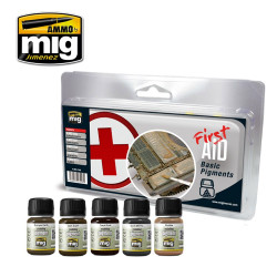 Ammo by Mig First Aid Basic Pigments For Model Kits Mig 7448