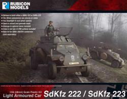 Rubicon Models 280062 Sdkfz 222/223 Light Armoured Car 1:56 Plastic Model Kit