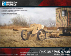 Rubicon Models 280058 Pak 38 / Pak 97/38 At Gun With Crew 1:56 Plastic Model Kit