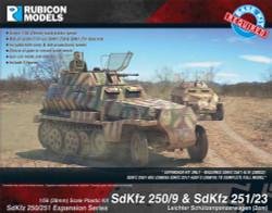 Rubicon Models 280048 Sdkfz 250/251 Exp. 250/9 251/23 Autocannon 1:56 Model Kit