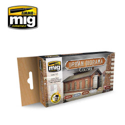 Ammo by Mig Urban Diorama Colours Set For Model Kits Mig 7177