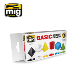 Ammo by Mig Basic Acrylic Colours Set For Model Kits Mig 7178