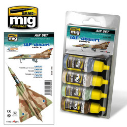 Ammo by Mig Iaf Desert Colours Set For Model Kits Mig 7200