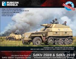 Rubicon Models 280044 Sdkfz 250/251 Expansion 250/8 251/9 Stummel 1:56 Model Kit