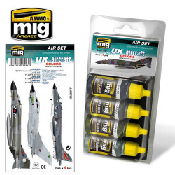 Ammo by Mig Uk Aircraft 50S To Date Acrylic Paint Set For Model Kits Mig 7203