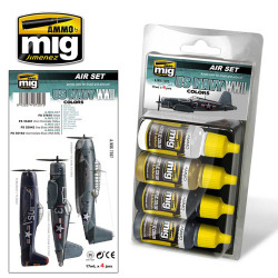 Ammo by Mig Us Navy WWII Acrylic Paint Set For Model Kits Mig 7207