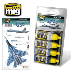 Ammo by Mig Su 33 Colour Set For Model Kits Mig 7208