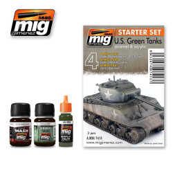 Ammo by Mig Us Green Tanks Weathering Set For Model Kits Mig 7413