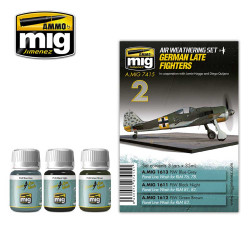 Ammo by Mig German Late Fighters Weathering Set For Model Kits Mig 7415