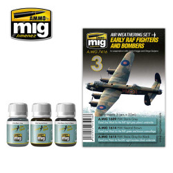 Ammo by Mig Raf Fighters & Bombers Weathering Set For Model Kits Mig 7416