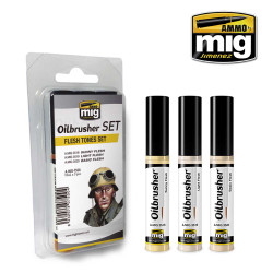 Ammo by Mig Flesh Tones Oilbrusher Set For Model Kits Mig 7500