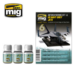 Ammo by Mig Us Navy Grey Jets Weathering Set For Model Kits Mig 7419