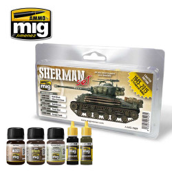Ammo by Mig Fury Sherman Paint Set For Model Kits Mig 7427