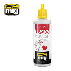 Ammo by Mig Satin Lucky Varnish 60ml For Model Kits Mig 2052