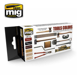 Ammo by Mig Tool Colours Paint Set For Model Kits Mig 7112