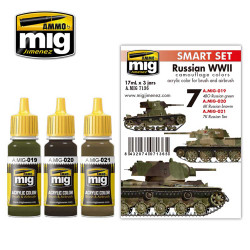 Ammo by Mig Russian WWII Colours Acrylic Paint Set For Model Kits Mig 7136