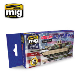 Ammo by Mig Modern Us Army Acrylic Paint Set For Model Kits Mig 7159