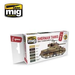 Ammo by Mig Sherman Tanks Vol 1 Acrylic Paint Set For Model Kits Mig 7169