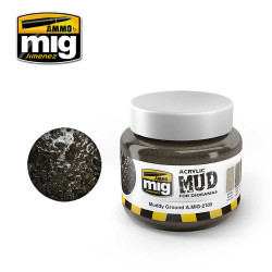 Ammo by Mig Muddy Ground Acrylic 250ml For Model Kits Mig 2105