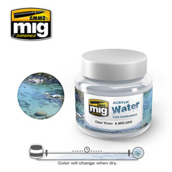 Ammo by Mig Clear Water Acrylic 250ml For Model Kits Mig 2205